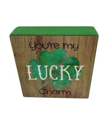 St. Patrick's Day Word Block-You're My Lucky Charm