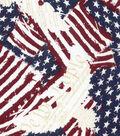 Patriotic Cotton Fabric 43\u0027\u0027-Eagle on Flags