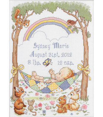 Bucilla Birth Record Counted Cross Stitch Kit Our Little Blessing