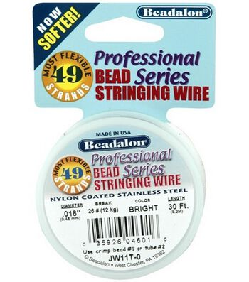 """Westrim Professional Series .018"""" 49-Strand Stringing Wire-30ft/Silver"""