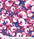Kathy Davis® Cotton Fabric 44\u0027\u0027-Purple Large Watercolor Floral