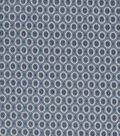Vintage Cotton Fabric 43\u0027\u0027-Intricate Ovals on Blue