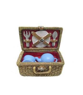 Bloom Room Littles Resin Picnic Basket Set