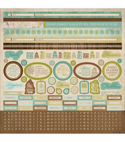 Kaisercraft Heirloom Cardstock Sticker Sheet, , hi-res