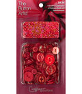 The Button Artist Buttons & Beads Red