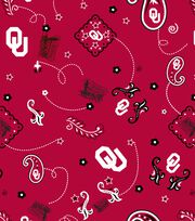 "University of Oklahoma Sooners Cotton Fabric 44""-Bandana, , hi-res"
