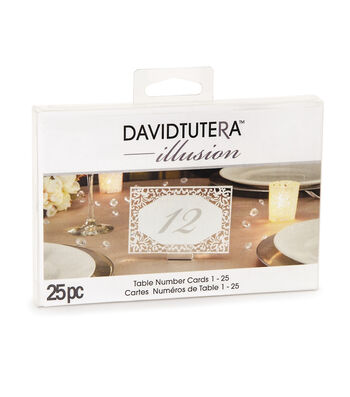 Diecut Lace Table Number Cards - Silver, Numbers 1-25