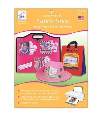 Fabric Stick-Adhesive-Back Inkjet Fabric Sheets