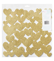 American Crafts Dear Lizzy Fine & Dandy Glittered Foam Hearts Die-Cut, , hi-res