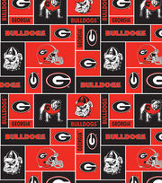 "University of Georgia Bulldogs Fleece Fabric 58""-Block, , hi-res"