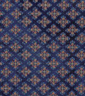 Vintage Cotton Fabric 43\u0022-Detailed Diamonds Blue