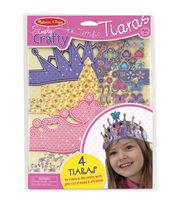 Melissa & Doug Simply Crafty Terrific Tiaras Kit-Makes 4, , hi-res