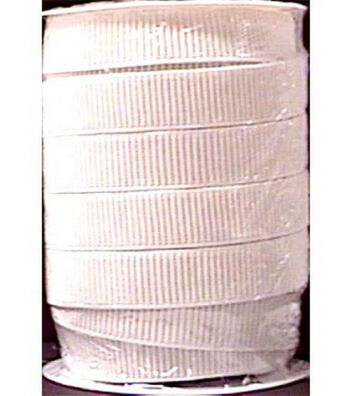 "Non-Roll Ribbed Elastic 1"" Wide 30 Yards-White"