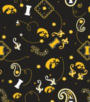 "University of Iowa Hawkeyes Cotton Fabric 44""-Bandana, , hi-res"