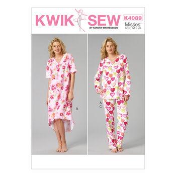Kwik Sew Misses Sleep & Lounge-K4089