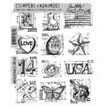 Stampers Anonymous Tim Holtz Cling Rubber Stamp Set Blueprints Mini