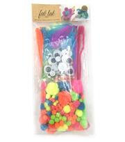 Pom-Pom & Chenille Kit 300 Pieces-Neon, , hi-res