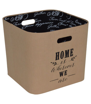Farm Storage Large Burlap Bin-Home Is Where We Are