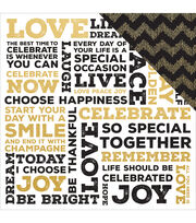 Kaisercraft A Touch Of Gold 12''x12'' Double-Sided Cardstock-Glitz, , hi-res