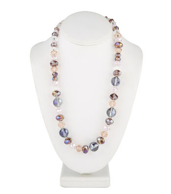 Short Multi Necklace Purple