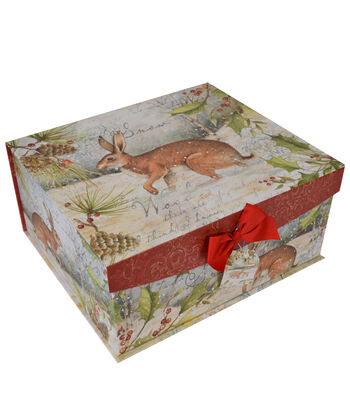Maker's Holiday Large Flip Top Box-Winter Rustic