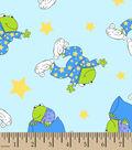 Snuggle Flannel Fabric 42\u0027\u0027-Frog In Pajamas
