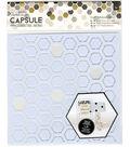 Hexagons -geo Mono Stencil 8x8