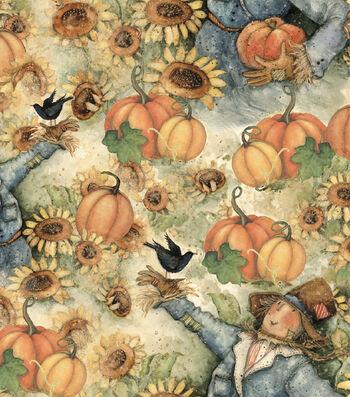 "Harvest Cotton Fabric 43""-Sunflower Fields"