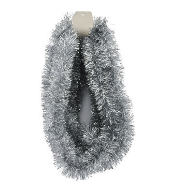 Maker's Holiday Christmas 20' Tinsel Garland-Silver