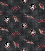 "Florida State University Seminoles Flannel Fabric 42""-Distressed Logo, , hi-res"