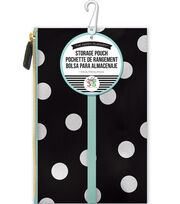 "Create 365 Happy Planner Pouch 5.7""X9.2""-White Scattered Dot, , hi-res"