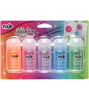 Tulip Fashion Glitter Assortment Jar 5/Pkg-Neon, , hi-res