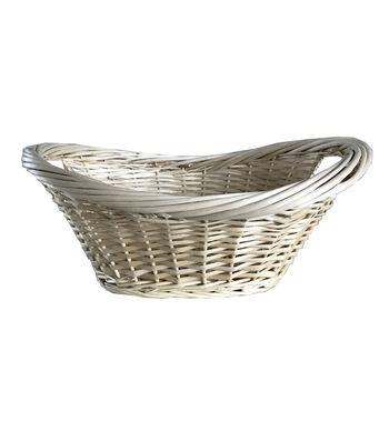 Organizing Essentials Heavy Rim Natural Willow Laundry Basket
