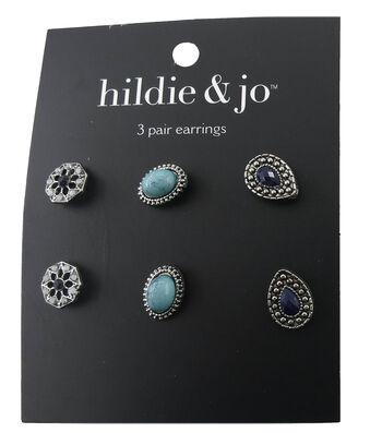 hildie & jo™ 3 Pack Antique Silver Earrings