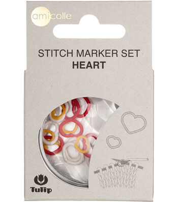 Tulip Stitch Markers-Yellow-Small/Red-Medium/White-Large