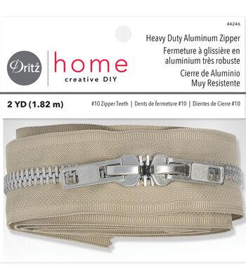 """Dritz Home 72"""" Heavy Duty Zipper-Beige"""