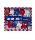 Americana Patriotic 10ct Star String Lights