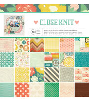 American Crafts™ 48 Pack 12''x12'' Paper Pad-Close Knit, , hi-res