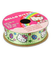 Hello Kitty® Easter Ribbon-Green Plaid, , hi-res