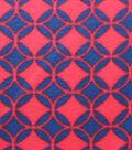 Blizzard Fleece Fabric - Navy Red Diamonds