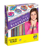 Creativity For Kids Rhinestone Wrap Bracelets Kit, , hi-res