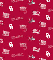 "University of Oklahoma Sooners Cotton Fabric 44""-Red All Over, , hi-res"