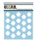 Clear Scraps 12\u0027\u0027x12\u0027\u0027 Plastic Stencil-Cupcakes