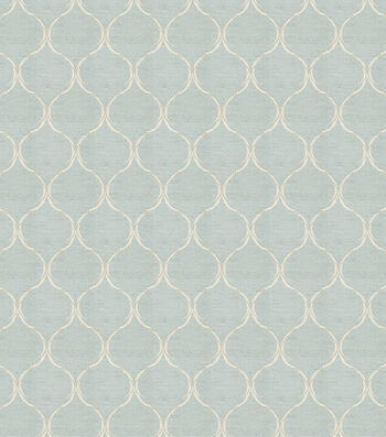 """Eaton Square Print Fabric 54""""-Biscuit/Ice Blue"""