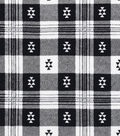 Snuggle Flannel Fabric 42\u0022-Aztec Plaid Black