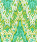 P/K Lifestyles Lightweight Decor Fabric 54\u0022-Bray Flamestitch/Citron