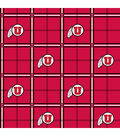 University of Utah Utes Flannel Fabric 42\u0022-Plaid