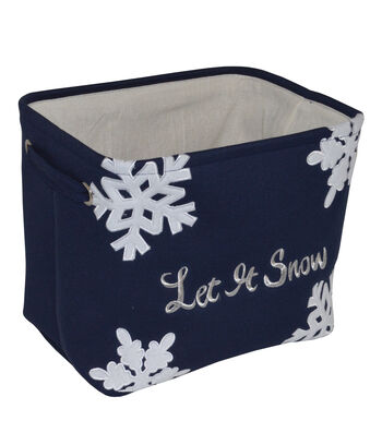Maker's Holiday Small Soft Bin-Let It Snow