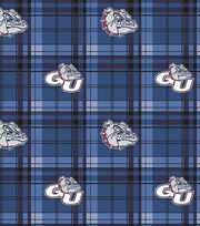 "Gonzaga University Bulldogs Fleece Fabric 58""-Plaid, , hi-res"