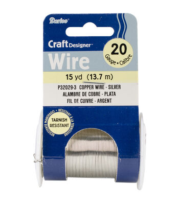 Beading Wire 20 Gauge 15yd/Pkg-Silver Colored Copper Wire